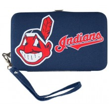 Cleveland Indians Distressed Wallet Wristlet Case