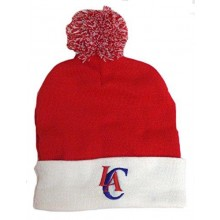 NBA Officially Licensed Los Angeles Clippers Red White Cuffed Pom Beanie Hat Cap Lid Toque