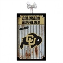 Colorado Buffaloes Corrugated Metal Ornament