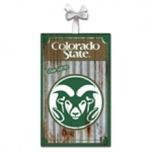 Colorado State Rams Corrugated Metal Ornament