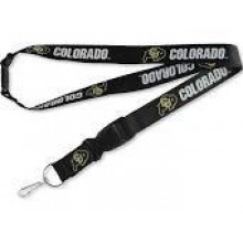 NCAA Colorado Buffaloes Team Color Breakaway Lanyard Key Chain