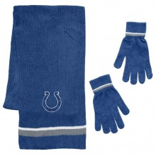 Indianapolis Colts Chenille Scarf & Glove Set
