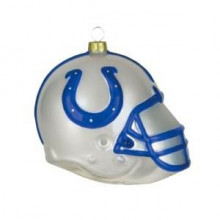 Indianapolis Colts Blown Glass Team Helmet Ornament