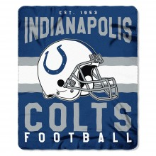 "Indianapolis Colts 50"" x 60"" Singular Fleece Throw Blanket"