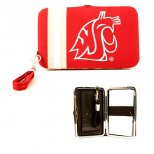 "Washington State Cougars Distressed Wallet Wristlet Case (3.5"" X .5"" X 6"")"