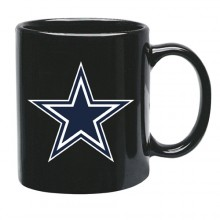 Dallas Cowboys 15 oz Black Ceramic Coffee Cup