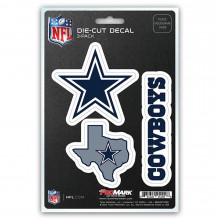 Dallas Cowboys 3 Pack Die Cut Decals