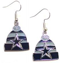 Dallas Cowboys Beanie Style Dangle Earrings