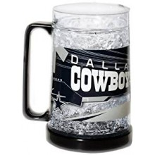 Dallas Cowboys 16-Ounce Crystal Freezer Mug