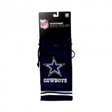 Dallas Cowboys  Drawstring Microfiber Striped Glasses Pouch