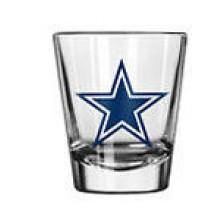 Dallas Cowboys Clear 2 oz Logo Shot Glass
