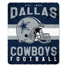 "Dallas Cowboys 50"" x 60"" Singular Fleece Throw Blanket"