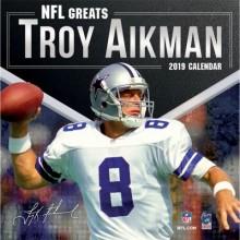 Dallas Cowboys 12 x 12 Inch Troy Aikman Wall Calendar 2019