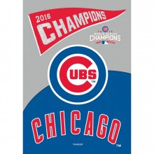 "Chicago Cubs Double Sided Suede Glitter  2016 Champions 29"" x 43"" Vertical House Flag"