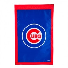 "Chicago Cubs Double Sided Applique 28"" x 44"" Vertical House Flag"