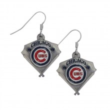 Chicago Cubs Home Plate Dangle Earrings
