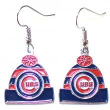 MLB Chicago Cubs Beanie Dangle Earrings
