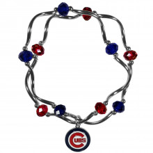 Chicago Cubs Crystal Bead Charm Bracelet