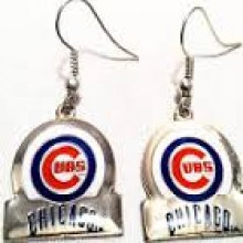 Chicago Cubs Bar Style Dangle Earrings