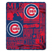 "Chicago Cubs 50"" x 60"" Established Fleece Throw Blanket"