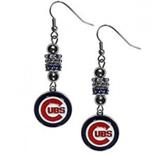 Chicago Cubs Euro Bead Earrings
