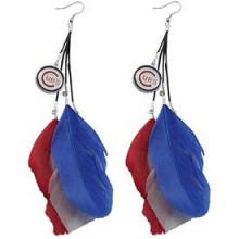 Chicago Cubs Fan Feather Earrings