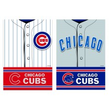 Chicago Cubs 2 Sided Suede Foil Garden Flag