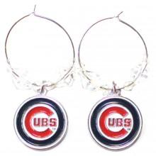 Chicago Cubs Beaded Hoop Dangle Earrings
