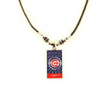 Chicago Cubs Diamond Plate Rope Necklace, 20-Inch
