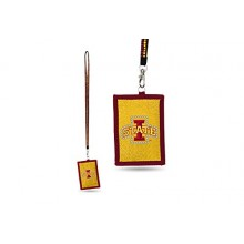 Iowa State Cyclones Beaded Lanyard I.D. Wallet