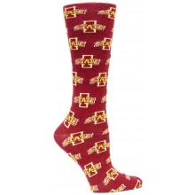 Iowa State Cyclones Red Repeater Dress Socks