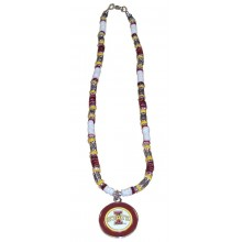 Iowa State Cyclones Shell Necklace, 18-Inch, White