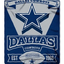 Dallas Cowboys Double Sided No Sew Fleece Blanket Kit