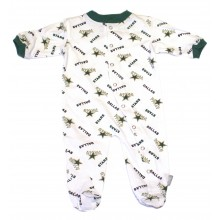 "NHL Officially Licensed Dallas Stars ""Repeater Pattern"" Bodysuit Creeper Pajama"