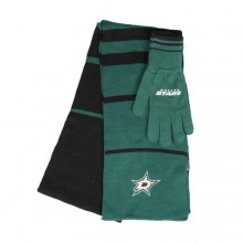Dallas Stars Striped Scarf and Glove Set