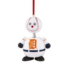 Detroit Tigers Wooden Ball Man Ornament