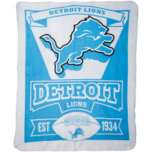 "Detroit Lions 50"" x 60"" Marque Fleece Throw Blanket"