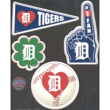 Detroit Tigers 4 Piece Team Magnet Set