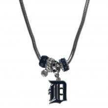 Detroit Tigers Euro Bead Charm Necklace