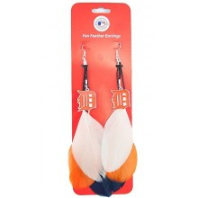 Detroit Tigers Fan Feather Earrings