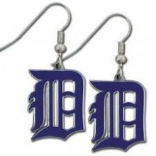 Detroit Tigers Logo Dangle Earrings