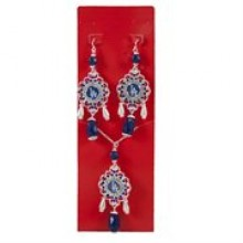 Los Angeles Dodgers Baroque Necklace and Earring Set