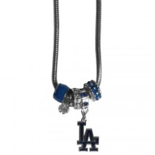 Los Angeles Dodgers Euro Bead Charm Necklace