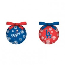 Los Angeles Dodgers  LED Ball Ornaments Set of 2