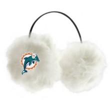Miami Dolphins Embroidered Faux Fur Team Logo Earmuffs Cheermuffs