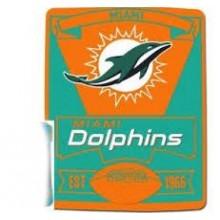"Miami Dolphins 50"" x 60"" Marque Fleece Throw Blanket"