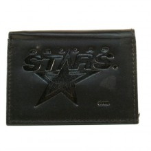 Dallas Stars Black Leather Tri Fold Wallet