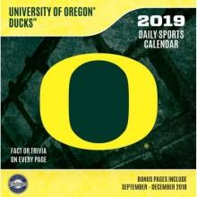Oregon Ducks 2019 Boxed Desk Calendar