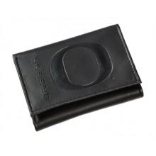 Oregon Ducks  Black Leather Tri-Fold Wallet