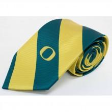 NCAA Officially Licensed Oregon Ducks Wide Stripe Silk Necktie